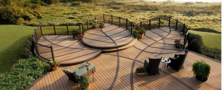 Decks fences allen lumber holdings limited for Garden wooden decking floor